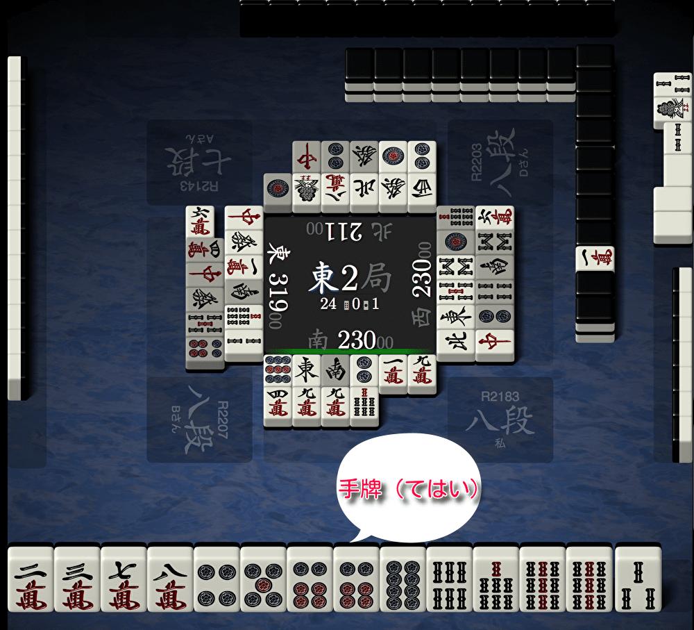 麻雀:手牌